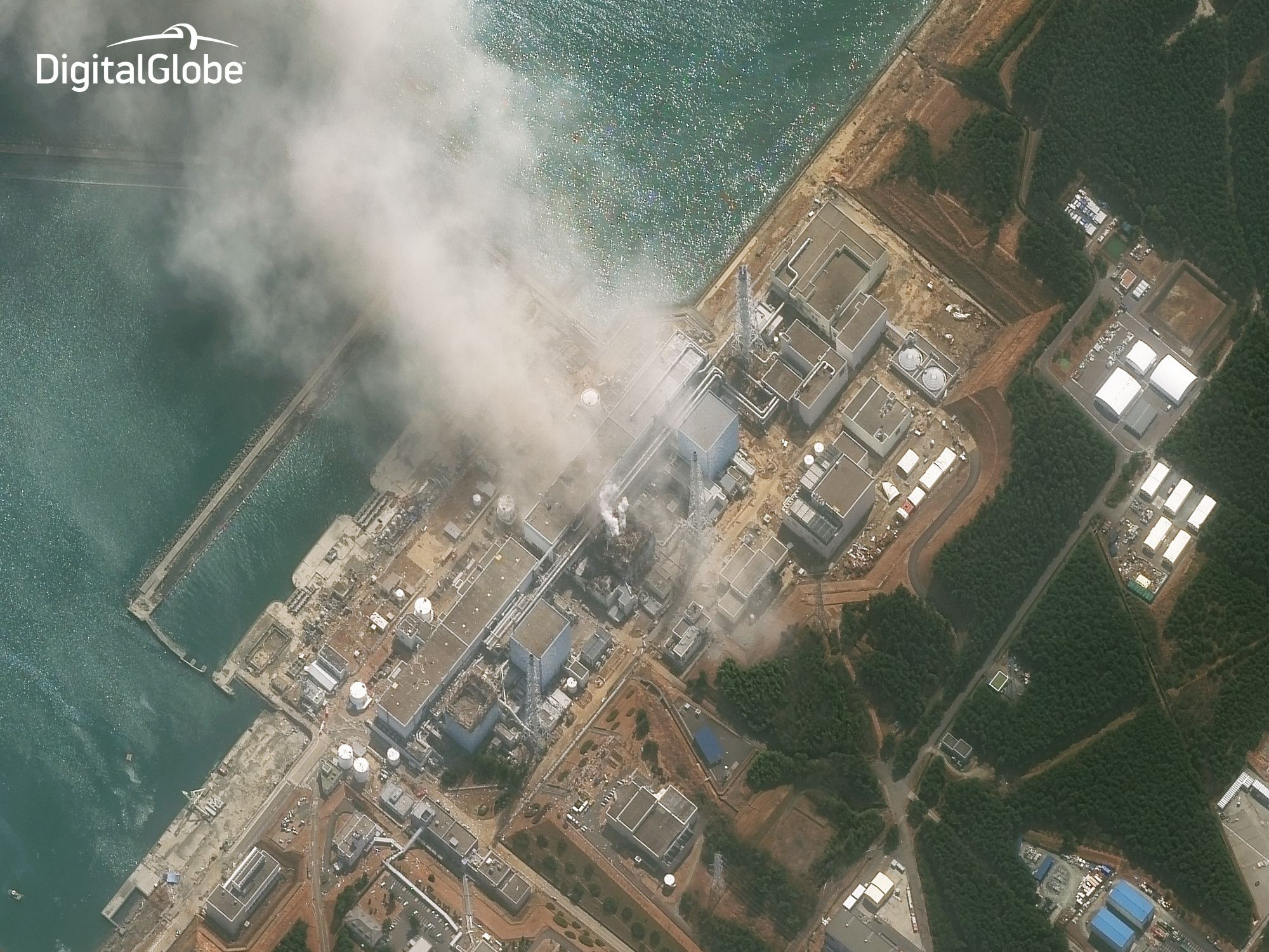Three minutes after the Fukushima Reactor 3 exploded on March 14, 2011