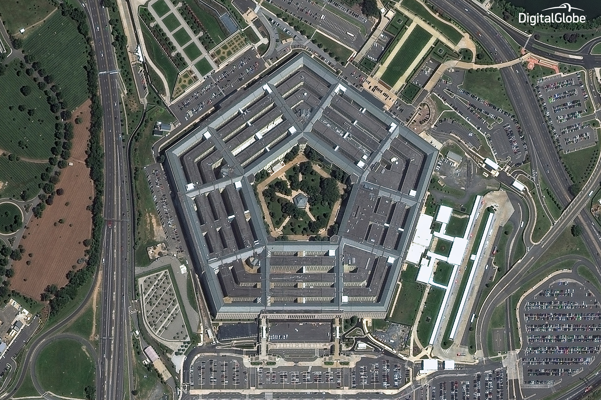Pentagon, captured by WorldView-2, August 2014