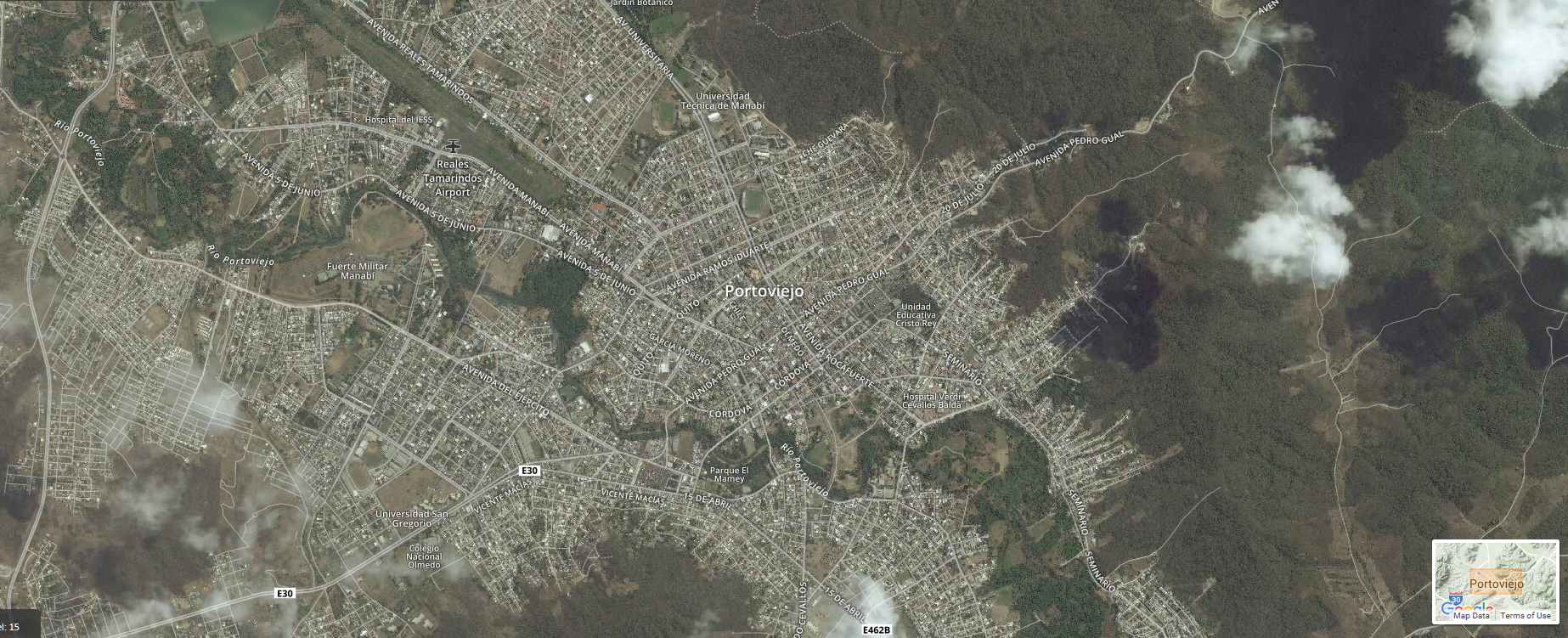 Portoviejo, Ecuador before the earthquake.