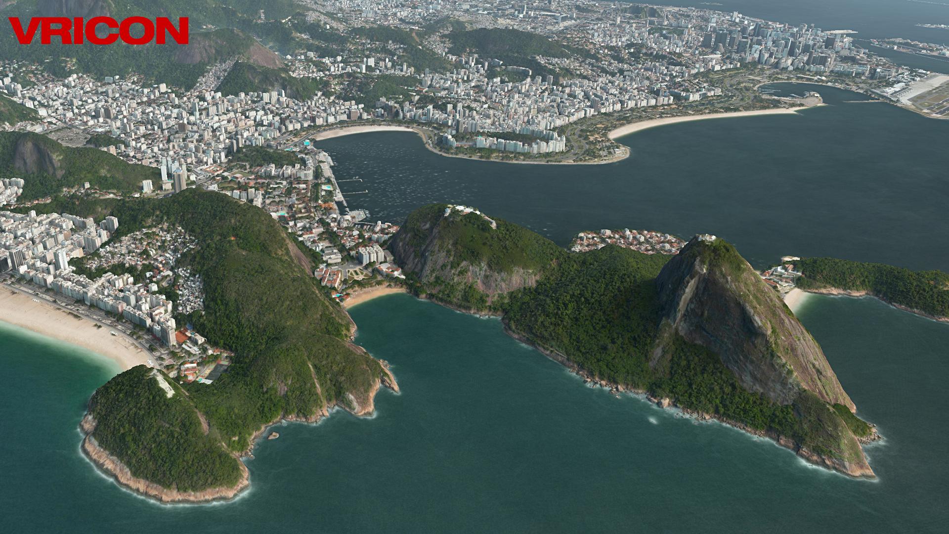 3D Vricon sample of Rio de Janeiro, Brazil
