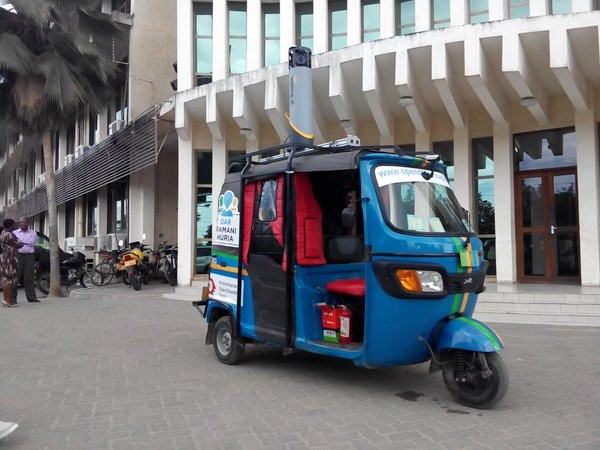 Another example of high tech meeting local traditions is the 'mapping bajaj'. With support from Trimble and Mapillary, Ramani Huria adapted a local means of transportation in Dar to hold two cameras to take and upload street view imagery to provide additional data inputs to communities.