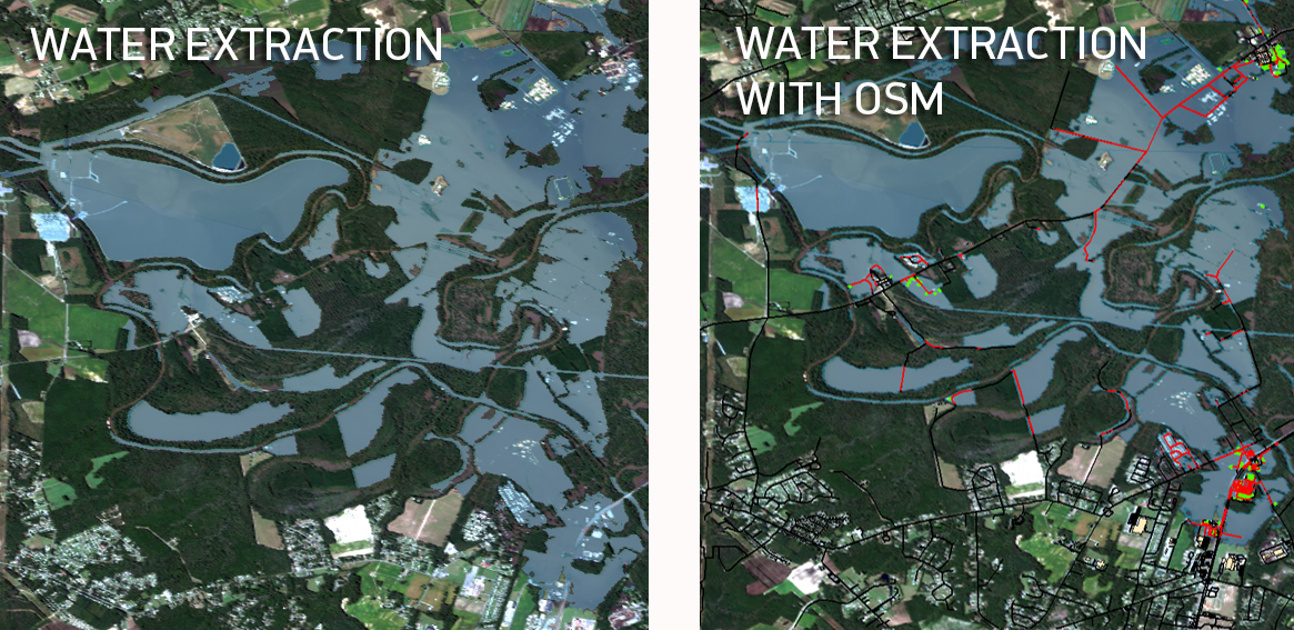Water extraction and water extraction with OSM data