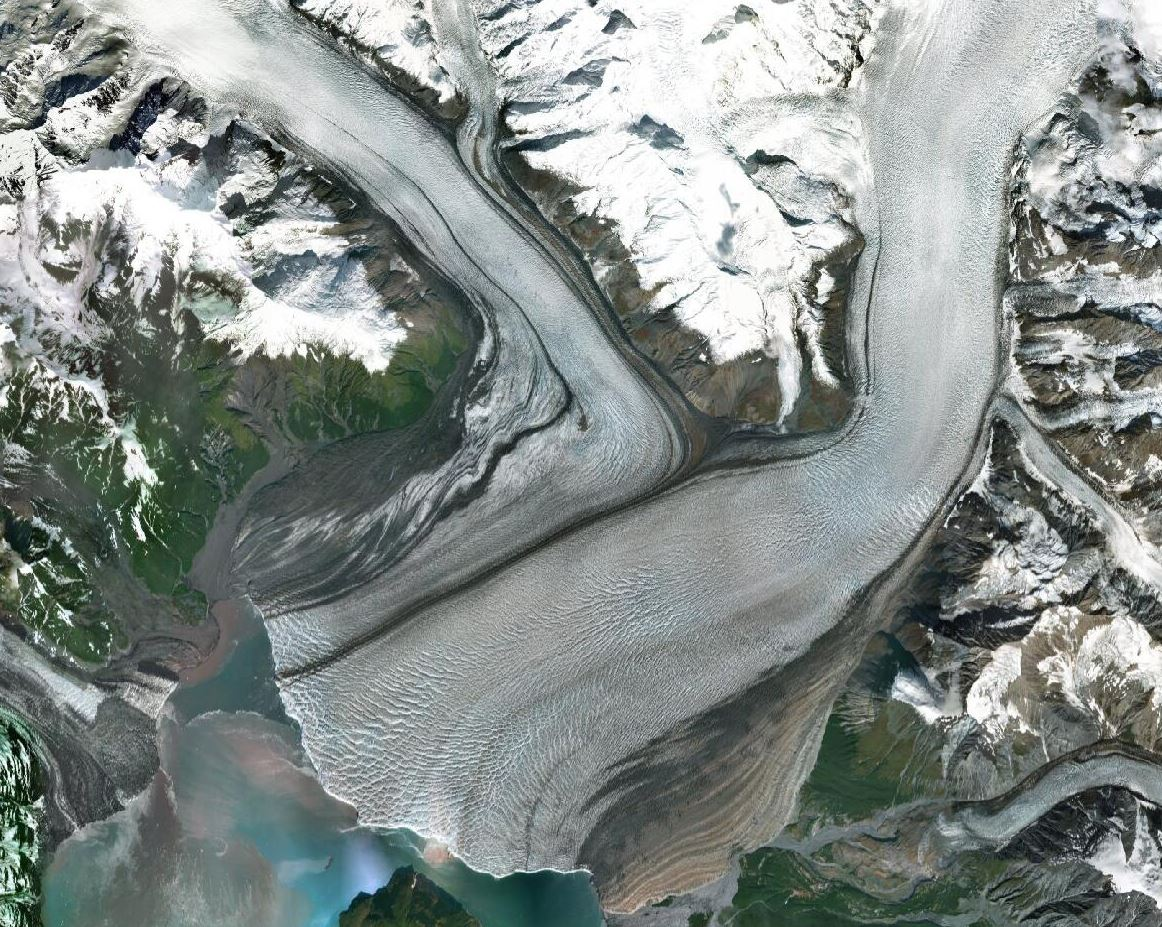 Hubbard Glacier as seen in DigitalGlobe Basemap Vivid