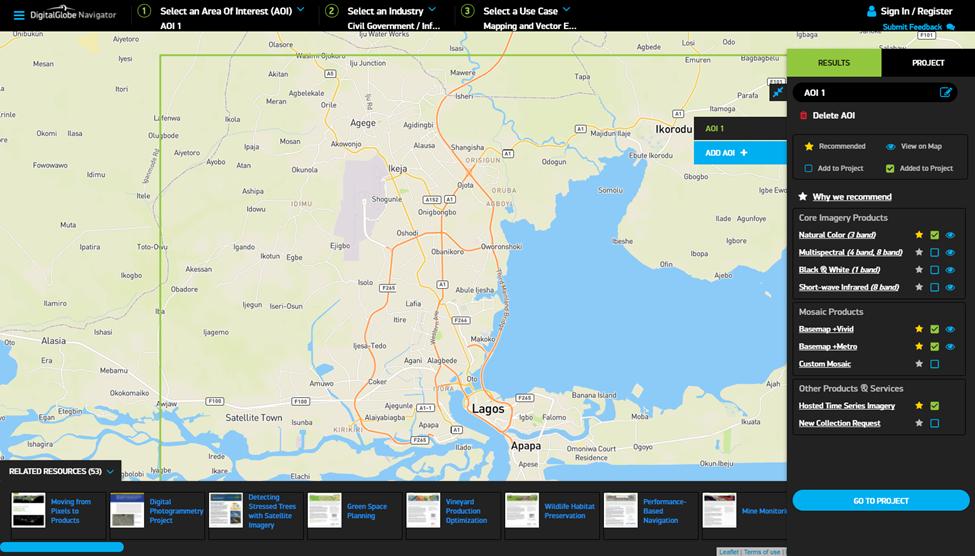 DigitalGlobe Navigator